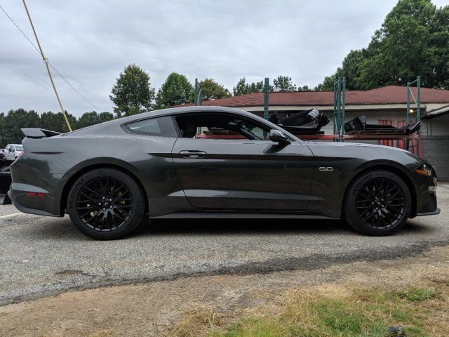 2019 Magnetic Metallic Ford Mustang GT Premium Premium Unleaded V-8 5.0 L/302 Engine RWD 2 Door Automatic Coupe