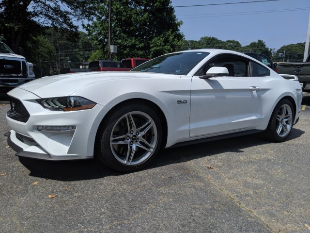 2019 Oxford White Ford Mustang GT Premium Automatic 2 Door RWD Coupe