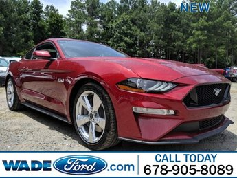 2019 Ruby Red Metallic Tinted Clearcoat Ford Mustang GT Premium RWD Premium Unleaded V-8 5.0 L/302 Engine 2 Door Automatic Coupe