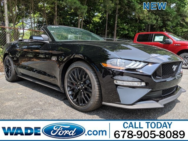 2019 Shadow Black Ford Mustang GT Premium 2 Door Premium Unleaded V-8 5.0 L/302 Engine RWD Automatic Convertible