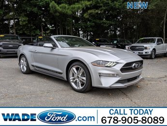 2019 Ingot Silver Metallic Ford Mustang EcoBoost Premium Intercooled Turbo Premium Unleaded I-4 2.3 L/140 Engine Automatic Convertible RWD 2 Door