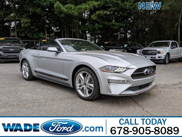 2019 Ingot Silver Metallic Ford Mustang EcoBoost Premium Intercooled Turbo Premium Unleaded I-4 2.3 L/140 Engine Convertible RWD Automatic 2 Door