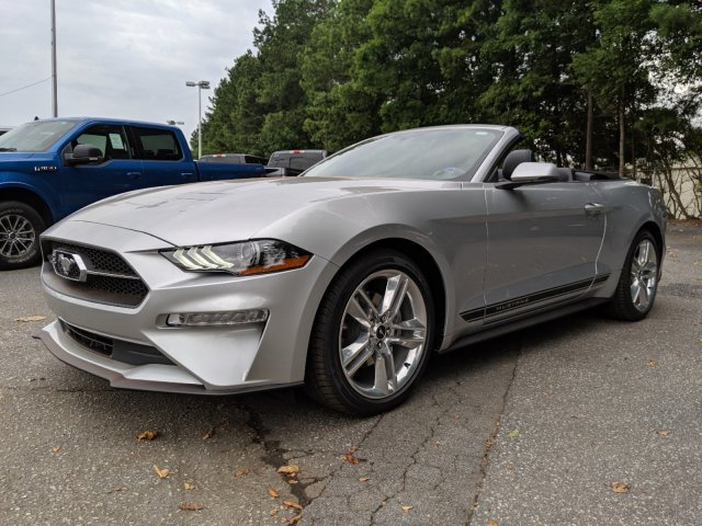 2019 Ingot Silver Metallic Ford Mustang EcoBoost Premium 2 Door RWD Convertible Intercooled Turbo Premium Unleaded I-4 2.3 L/140 Engine Automatic