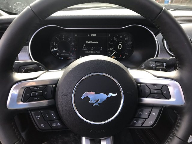 2019 Shadow Black Ford Mustang EcoBoost Premium RWD Intercooled Turbo Premium Unleaded I-4 2.3 L/140 Engine Automatic 2 Door