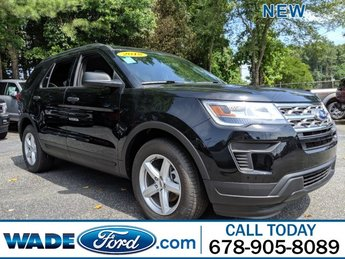 2018 Shadow Black Ford Explorer Base Automatic FWD 4 Door Intercooled Turbo Premium Unleaded I-4 2.3 L/140 Engine SUV