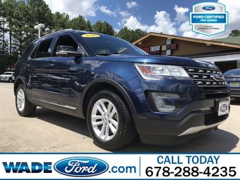 2016 Blue Jeans Metallic Ford Explorer XLT 4 Door SUV Automatic V-6 3.5 L/213 Engine