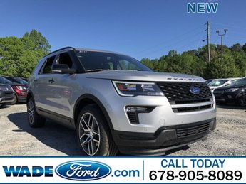 2019 Ingot Silver Metallic Ford Explorer Sport Twin Turbo Premium Unleaded V-6 3.5 L/213 Engine Automatic AWD