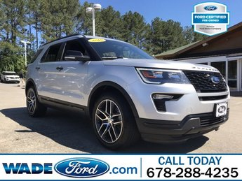 2018 Ingot Silver Metallic Ford Explorer Sport SUV V-6 3.5 L/213 Engine Automatic AWD 4 Door