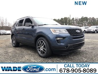2019 Blue Metallic Ford Explorer Sport Automatic SUV 4 Door Twin Turbo Premium Unleaded V-6 3.5 L/213 Engine AWD