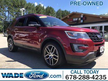 2016 Ruby Red Metallic Tinted Clearcoat Ford Explorer Sport Automatic V-6 3.5 L/213 Engine SUV 4 Door AWD