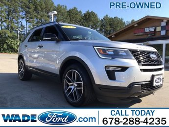 2018 Ingot Silver Metallic Ford Explorer Sport 4 Door Automatic V-6 3.5 L/213 Engine