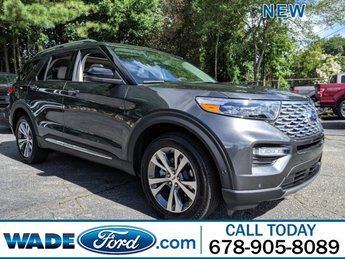 2020 Magnetic Metallic Ford Explorer Platinum 4 Door Automatic Twin Turbo Premium Unleaded V-6 3.0 L/183 Engine SUV