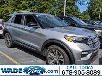 2020 Iconic Silver Metallic Ford Explorer Platinum SUV Twin Turbo Premium Unleaded V-6 3.0 L/183 Engine AWD