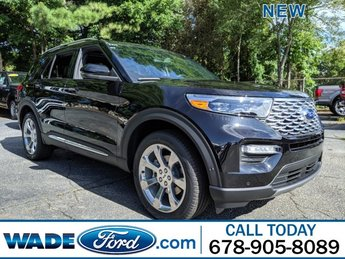2020 Agate Black Metallic Ford Explorer Platinum AWD 4 Door Twin Turbo Premium Unleaded V-6 3.0 L/183 Engine