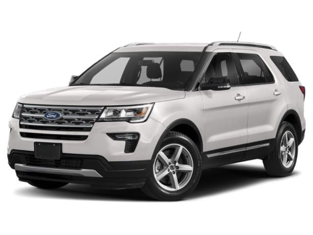 2019 White Platinum Metallic Tri-Coat Ford Explorer Platinum SUV Automatic Twin Turbo Premium Unleaded V-6 3.5 L/213 Engine