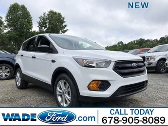 2019 Oxford White Ford Escape S SUV Automatic 4 Door Regular Unleaded I-4 2.5 L/152 Engine
