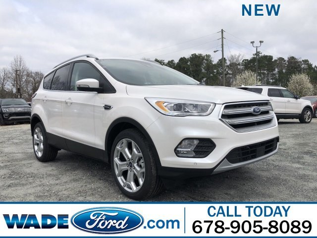 2019 White Platinum Metallic Tri-Coat Ford Escape Titanium SUV FWD Intercooled Turbo Premium Unleaded I-4 2.0 L/122 Engine 4 Door