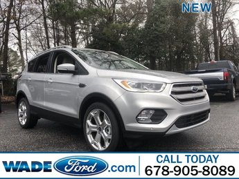 2019 Ingot Silver Metallic Ford Escape Titanium Intercooled Turbo Premium Unleaded I-4 2.0 L/122 Engine FWD Automatic 4 Door