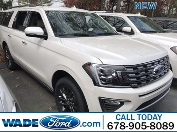 2019 White Platinum Metallic Tri-Coat Ford Expedition Max Limited 4 Door Automatic Twin Turbo Premium Unleaded V-6 3.5 L/213 Engine SUV