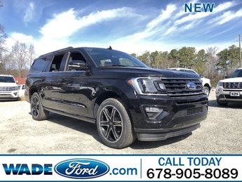 2019 Agate Black Metallic Ford Expedition Max Limited Twin Turbo Premium Unleaded V-6 3.5 L/213 Engine RWD SUV