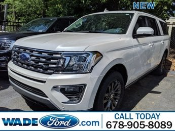 2019 White Platinum Metallic Tri-Coat Ford Expedition Max Limited Twin Turbo Premium Unleaded V-6 3.5 L/213 Engine 4 Door Automatic 4X4