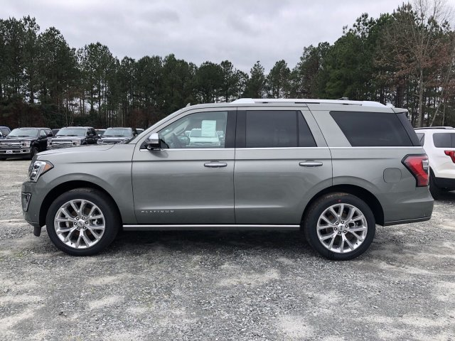 2019 Silver Spruce Metallic Ford Expedition Platinum Twin Turbo Premium Unleaded V-6 3.5 L/213 Engine 4 Door SUV RWD Automatic