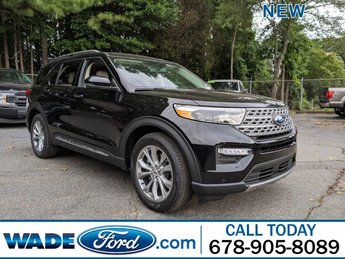 2020 Agate Black Metallic Ford Explorer Limited FWD Intercooled Turbo Regular Unleaded I-4 2.3 L/140 Engine Automatic SUV