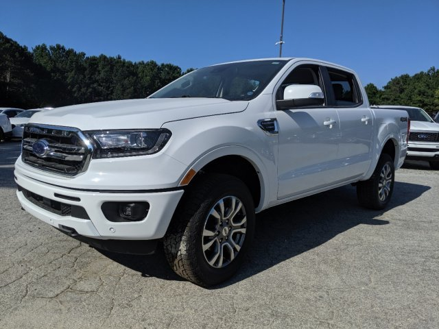 2019 Oxford White Ford Ranger LARIAT Truck Intercooled Turbo Regular Unleaded I-4 2.3 L/140 Engine 4 Door