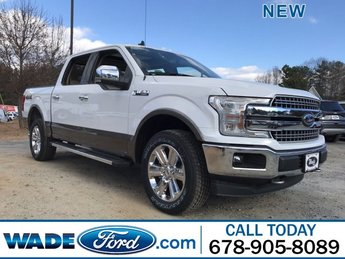 2019 Oxford White Ford F-150 LARIAT 4 Door Automatic Regular Unleaded V-8 5.0 L/302 Engine Truck