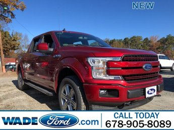 2019 Ruby Red Metallic Tinted Clearcoat Ford F-150 LARIAT Truck Regular Unleaded V-8 5.0 L/302 Engine 4X4