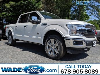 2019 White Platinum Metallic Tri-Coat Ford F-150 King Ranch 4X4 4 Door Truck Automatic Regular Unleaded V-8 5.0 L/302 Engine