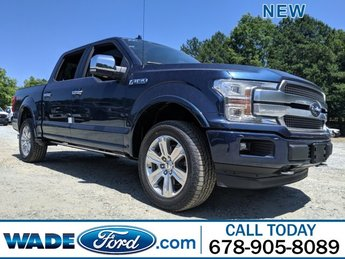 2019 Blue Jeans Metallic Ford F-150 Platinum 4 Door Regular Unleaded V-8 5.0 L/302 Engine Automatic Truck