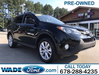 2015 Black Toyota RAV4 Limited Automatic FWD 4 Door