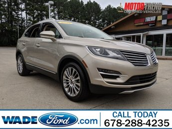 2015 Silver Sand Metallic Lincoln MKC Reserve I-4 2.0 L/122 Engine 4 Door Automatic FWD