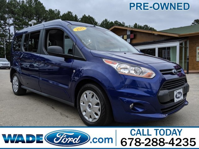 2017 Deep Impact Blue Metallic Ford Transit Connect Wagon XLT Automatic FWD Van 4 Door I-4 2.5 L/152 Engine