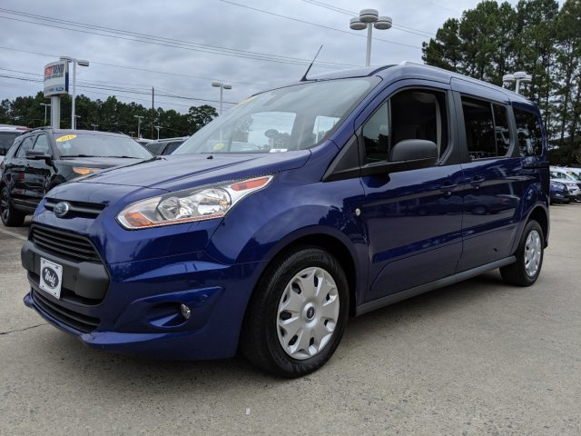 2017 Deep Impact Blue Metallic Ford Transit Connect Wagon XLT Automatic 4 Door I-4 2.5 L/152 Engine Van FWD