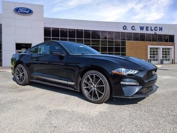 2020 Shadow Black Ford Mustang EcoBoost RWD Intercooled Turbo Premium Unleaded I-4 2.3 L/140 Engine Automatic