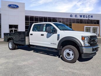 2021 Oxford White Ford Super Duty F-550 DRW XL RWD Intercooled Turbo Diesel V-8 6.7 L/406 Engine Truck Automatic