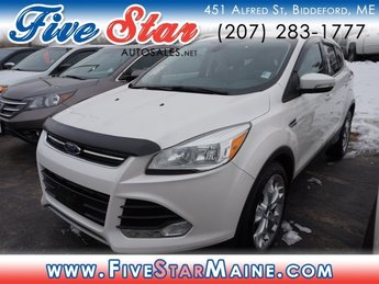 2014 White Platinum Tricoat Ford Escape Titanium SUV Automatic 4X4 4 Door