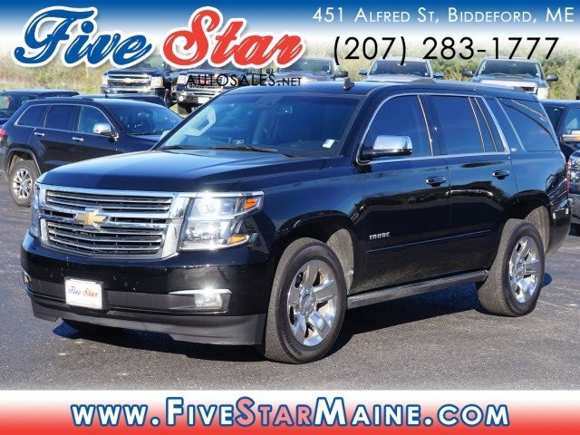 used 2015 chevy tahoe ltz 4x4 suv for sale in biddeford me 34010 Black 2015 Chevy Tahoe LTZ Interior 2015 chevy tahoe ltz 4 door automatic suv 4x4