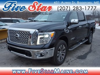 2017 Magnetic Black Nissan Titan SL Automatic 4X4 4 Door Truck