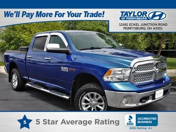 2015 Blue Ram 1500 SLT 4X4 4 Door Automatic V6, 3.0L Engine Truck