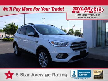 2019 WHITE Ford Escape SEL 1.5 liter 4 Cylinder Engine Automatic 4 Door