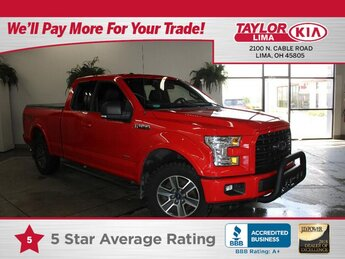 2016 Race Red Ford F-150 XLT Automatic Truck 4X4 4 Door 2.7 liter V6 Cylinder Engine