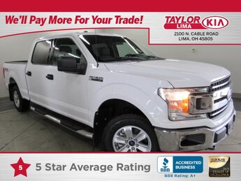 2018 Oxford White Ford F-150 XL Truck 4X4 5.0 liter 8 Cylinder Engine 4 Door Automatic