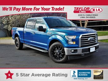2017 Lightning Blue Ford F-150 XLT Automatic 4X4 5.0 liter 8 Cylinder Engine 4 Door Truck
