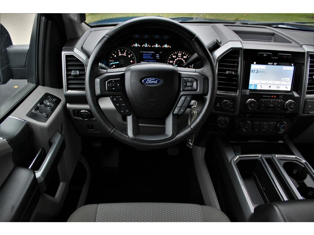 2017 Lightning Blue Ford F-150 XLT 5.0 liter 8 Cylinder Engine 4X4 4 Door Truck