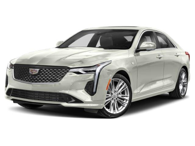 2021 Crystal White Tricoat Cadillac CT4 Premium Luxury 4 Door Automatic 2.7 liter 4 Cylinder Engine Sedan