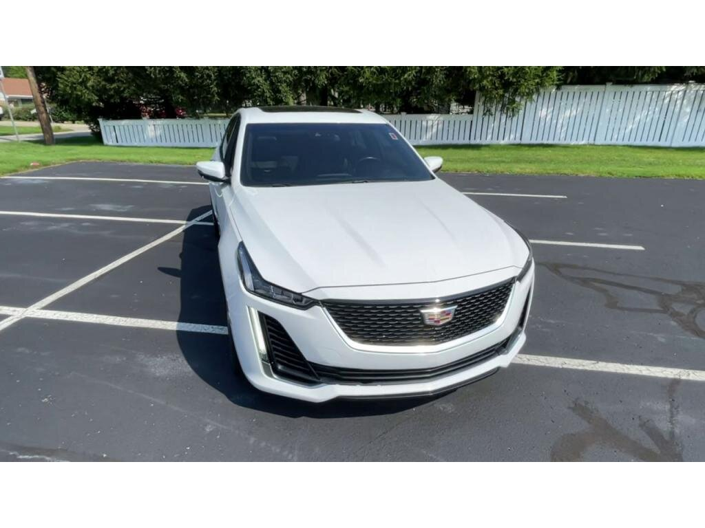 2020 Summit White Cadillac CT5 Premium Luxury 4 Door Automatic 2.0 liter 4 Cylinder Engine RWD Sedan