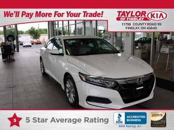 2018 Honda Accord LX 1.5T 4 Door FWD 1.5 liter 4 Cylinder Engine Automatic
